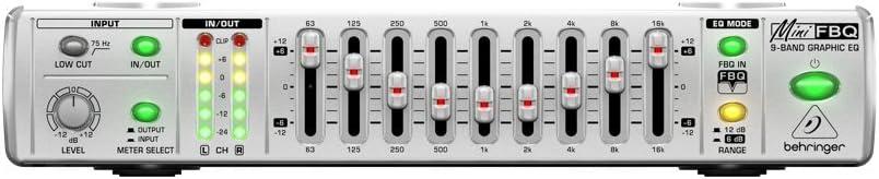 Behringer FBQ800minifbq Gráficos Ecualizador