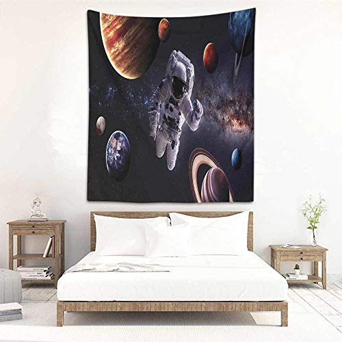 (Godves Fashion Tapestry Outer Space Astronaut Between Planets Mars Neptune Jupiter Plasma Ethereal Sphere Picture Beach Tapestry 54