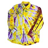 Yellow Tie Dye Oxford Shirt, OOAK - L