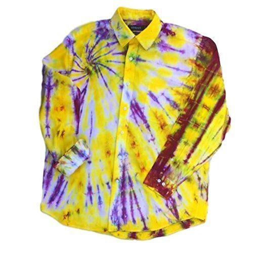 Yellow Tie Dye Oxford Shirt, OOAK - L by Incense and Peppermints