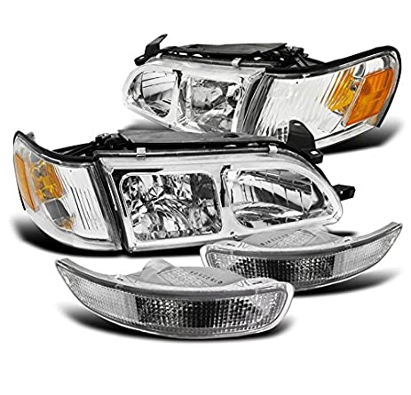 ZMAUTOPARTS Toyota Corolla DX Crystal Chrome Head Lights+Corner+Bumper  Signal