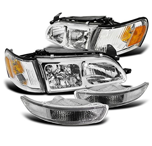 ZMAUTOPARTS Toyota Corolla DX Crystal Chrome Head Lights+Corner+Bumper Signal (Crystal Toyota Corolla)