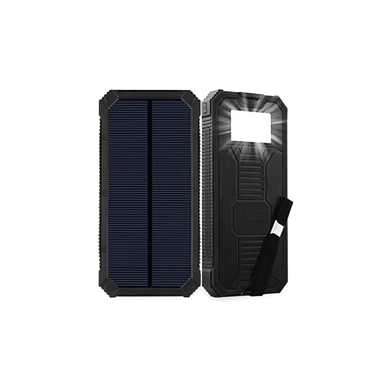 Solar Charger, Friengood 15000mAh Portab