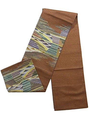 見分ける団結ペナルティリサイクル 袋帯 波模様 正絹 お太鼓柄