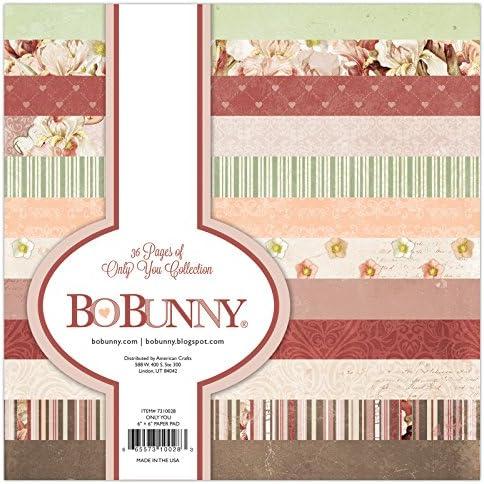 Bo Bunny Only You コレクション ペーパーパッド 6インチ x 6インチ