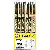 Kit Pigma Micron & Brush 06 Canetas Nanquim Sakura