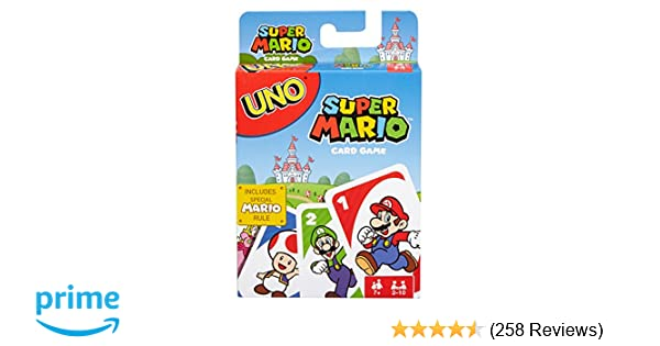 Amazon Uno Super Mario Card Game Toys Games