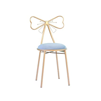 Furniture Nordic Dining Chair Bar Chair Wrought Iron Creative High Stool Front Desk Chair Simple Modern Nail Dressing Net Red Makeup Chair Factory Direct Selling Price Bar Furniture