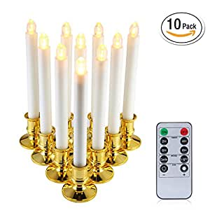 Amazon Com 10 Packs Window Candles With Remote Timers