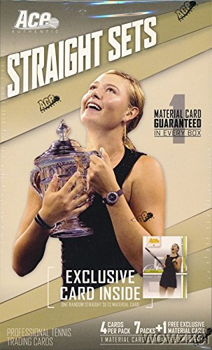 2007 Ace Authentic Straight Sets Tennis EXCLUSIVE Factory Sealed 7 Pack Retail Box with GAME WORN MATERIAL Card! Look for Material & Autographs of Roger Federer, Maria Sharapova, Rafael Nadal & More! (Tennis Card Set)