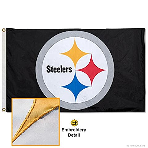 Pittsburgh Steelers Embroidered Nylon Flag - Pittsburgh Steelers Logo Nylon