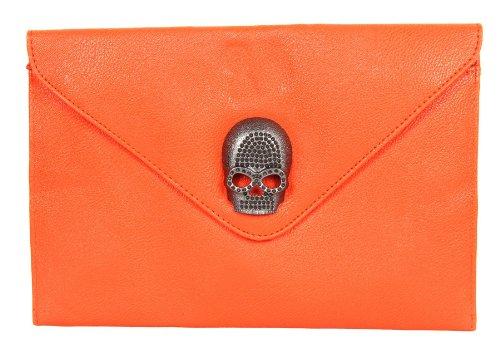 Neue Angebote für FreshGadgetz Lederne Handtasche mit Totenkopf im Umschlagdesig