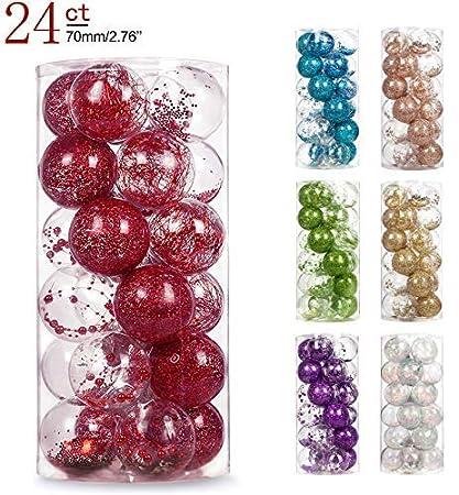 Amazon Com Ams 2 76 24ct Shatterproof Clear Plastic Christmas Ball
