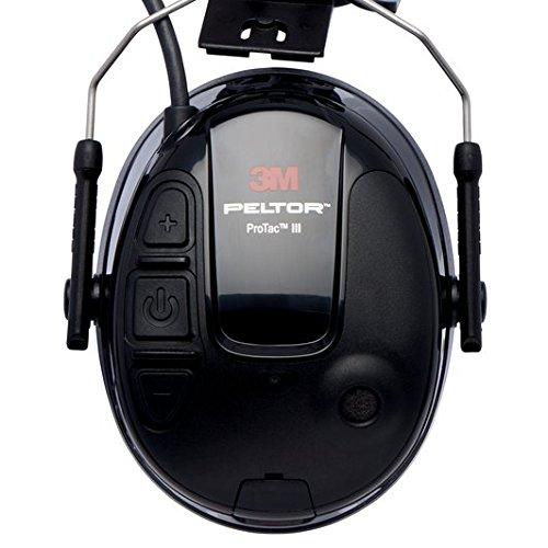 3M Peltor MT13H221P3E ProTac III Protección auditiva de auricular, versión de casco, color negro: Amazon.es: Industria, empresas y ciencia