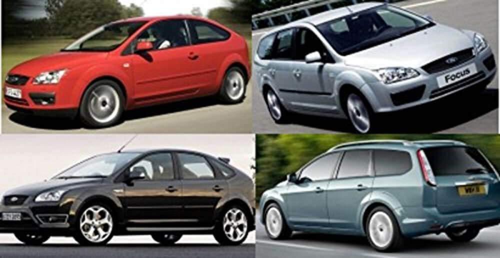 Focus II de 2004-2011 Il Tappeto Auto SPRINT01304 Tapis antid/érapants en Moquette Noire Bord Bicolore Prot/ège-Talon Renforc/é en Caoutchouc