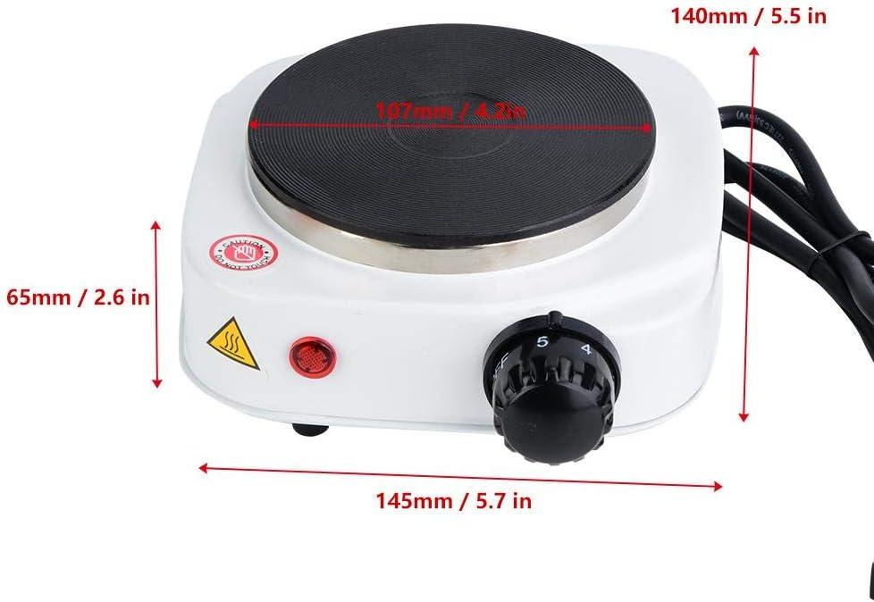 Calentador r/ápido del Acero Inoxidable de la Mini Estufa el/éctrica 500W Conveniente para cocinar la Sopa y el pote Caliente de Las gachas de Avena Enchufe de la UE 220V Estufa