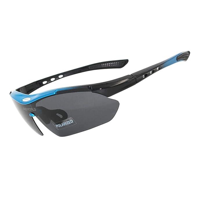 Daesar Gafas de Sol Gafas de Moto Retro Azul Gafas de ...