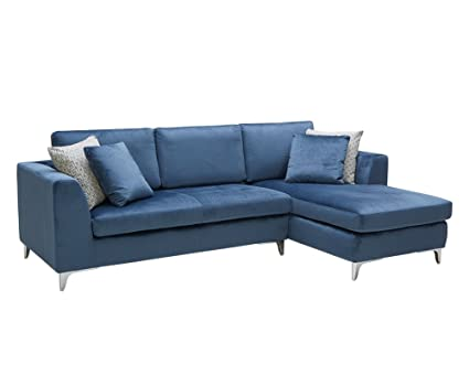 Amazon.com: Sunpan Modern Virgilio Sofa Chaise, Ink Blue ...