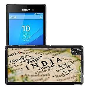 Print Motif Coque de protection Case Cover // V00002394 Mapa de la India // Sony Xperia M4 Aqua