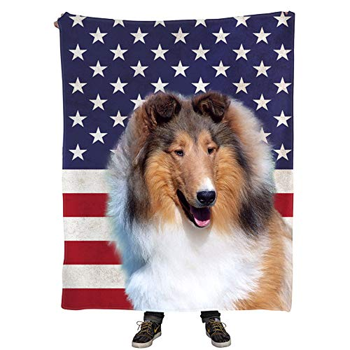 Niwaho Chatham Collie Gift Blanket Throw for Dog Mom or Dad - 50