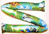 Door Draft Stopper Filled with Fragrant Balsam - Standard 2'' X 38'' – Spring Birds - Quality USA Made