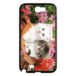 ALICASE Diy Design Back Case Lovely Cat for Samsung Galaxy Note 2 N7100 [Pattern-1]