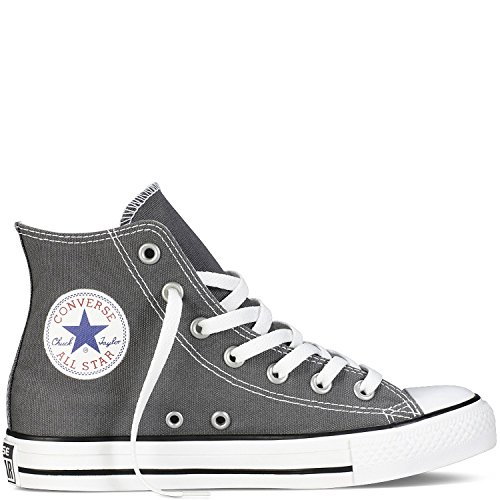 Converse Unisex Chuck Taylor All Star Hi Top Sneakers Charcoal, US Men's 7 / Women's 9