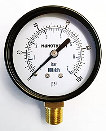industrial pressure gauges 2 1 2 dial 0 100 psi kpa bar range 2 5 accuracy 1 4 male npt. Black Bedroom Furniture Sets. Home Design Ideas
