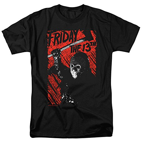 Popfunk Friday The 13th Movie Jason Lives T Shirt & Stickers (XXX-Large) Black