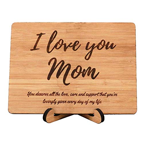 Zuaart I Love You Mom Greeting Card Handmade With Mothers day gift - You deserve all the love, care and support that youve lovingly given every day of my life - perfect birthday card for your mother