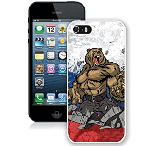 Grace Protective iPhone 5s Case Design with Comics Bear Iphone 5 5s Generation Case in White