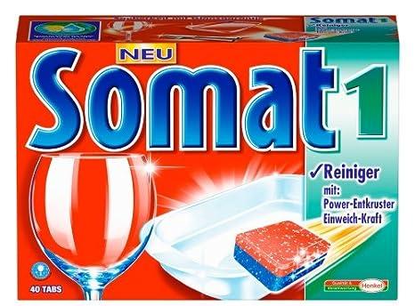 Somat 1 Tabs, pastillas lavavajillas, 40 Tabs: Amazon.es: Salud y ...