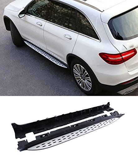 Mophorn Running boards Fit for 2016 - Up Mercedes Benz GLC Class X253 Side Steps OE Style Nerf Bars Aluminum ABS Plastic Side Step Rails (For Benz GLC X253)
