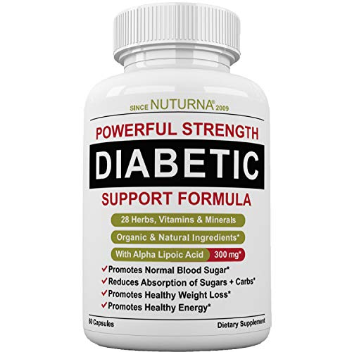 Formula Womens Support (Diabetic Support Supplement - 28 VITAMINS Minerals & Herbs for Blood Sugar Support - Healthy Body Weight & Extra Energy Support Naturally - Premium Diabetes Multi-Vitamin For Men & Women Best 60 packs)