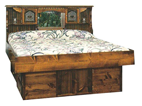 Pine Waterbeds (Strobel Organic Independence Complete Waterbed Premium Solid White Pine Unfinished Queen)