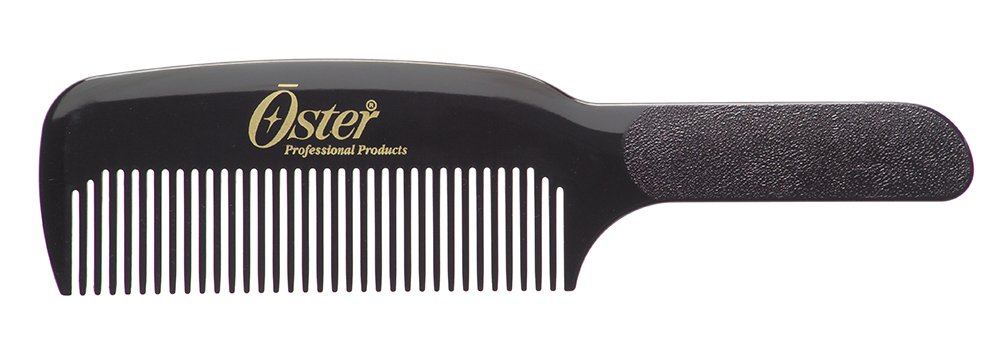 OSTER Barber Black Flat Top Comb For Clipper Over Comb Technique SB-76001-605