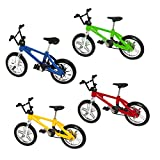 Finger Mountain Bike Excellent Functional Miniature Metal Toys Mini Extreme Sports Finger Bicycle Cool Boy Toy Creative Game Toy Set Collections [4 Pack]