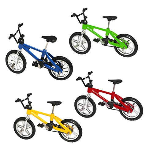 HuoBi Mini Bike Finger Bike Excellent Functional Miniature Metal Toys Mini Extreme Sports Finger Bicycle Cool Boy Toy Creative Game Toy Set Collections [4 Pack]
