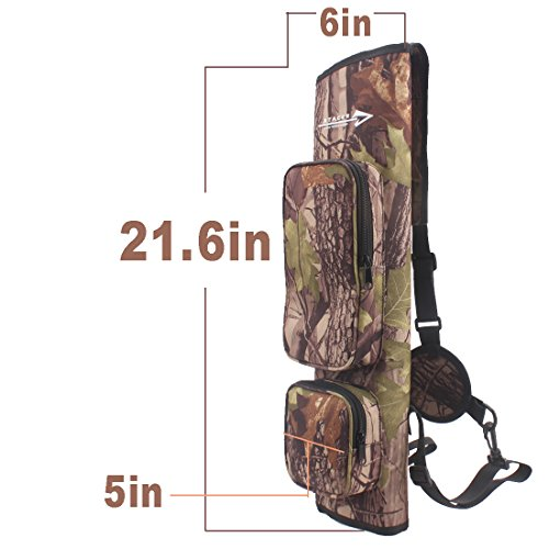 AMYIPO Camouflage Light Weight Waterproof Quiver Hunting Training Camo Archery Arrow Quiver Holder Bow Belt Shoulder Bag Pouch for Hunting Shooting Recurve Bows (CAMO (Enhancement))