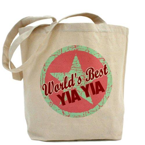 CafePress–el mejor del mundo yia yia–Gamuza de bolsa de lona bolsa, bolsa de la compra