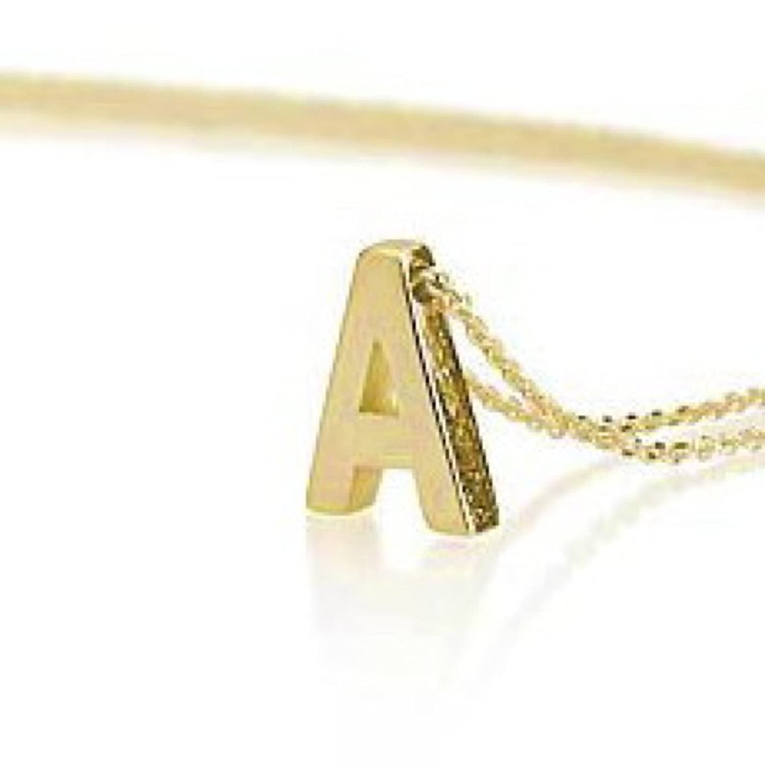 Amazon initial necklace 18k gold plated personalized initial amazon initial necklace 18k gold plated personalized initial necklace letter necklace choose any initial 14 inches pendant necklaces jewelry aloadofball Image collections