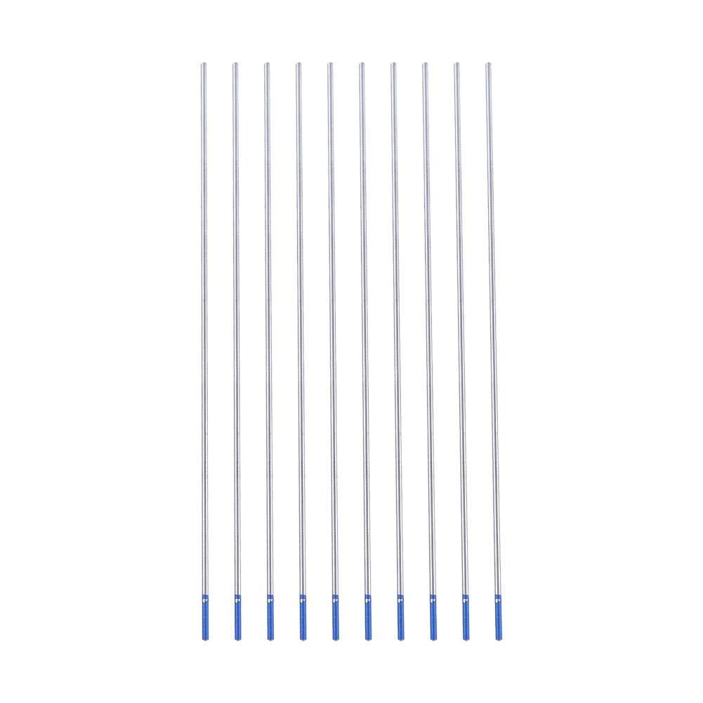 Lanthanum 2/% TIG Tungsten Electrodes Lanthanum Tungsten Electrode Blue 10pcs Pack. WL20 1.6 * 150mm
