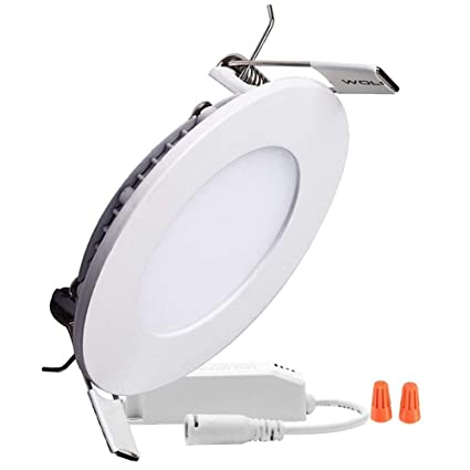 P&B Lighting 15W Dimmable Round LED Panel flush mount light, Ultra-thin Recessed Ceiling