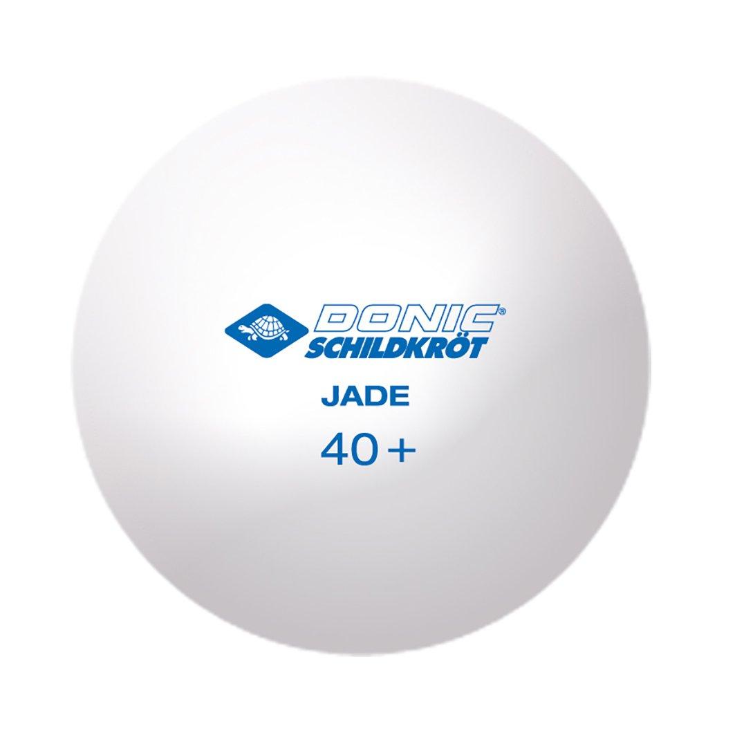 Donic-Schildkr/öt Tischtennisball Jade im Polybag 6X wei/ß//6x Orange Poly 40+ Qualit/ät 618045 12 STK