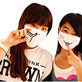 Bazaar Winter Cute Cartoon Cotton Face Nose Anti Dustproof Mist Fog Protection Prevent Wind Emotiction Mouth Mask