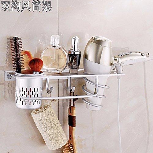 ZYZX Baño estantes Rack baño Completo con secador de Pelo secador de Pelo baño gradillas para Tubos de Aire de Almacenamiento,Gancho del Tubo de Aire: ...