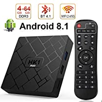 Android 8.1 TV Box with 4GB RAM 64GB ROM, Livebox HK1 max RK3328 Quad Core 64 bit Built in BT 4.1 Dual-WiFi 2.4GHz/5GHz,Supporting 4K (60Hz) Full HD/3D/H.265,USB 3.0[2019Version]