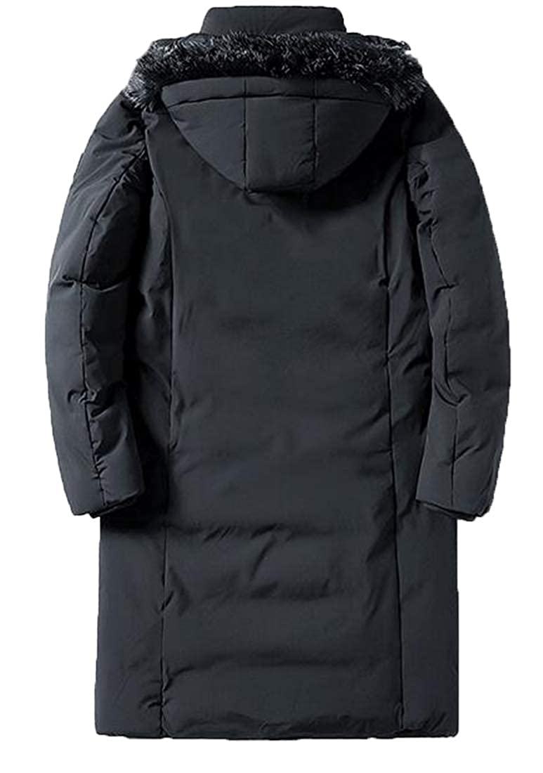 XTX Mens Warm Loose Hoodie Winter Thicker Down Quilted Jacket Coat Parka