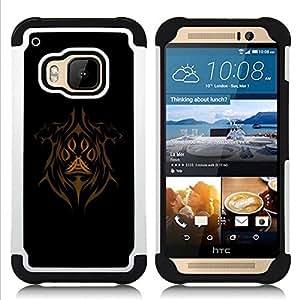 - Abstract Face/ H??brido 3in1 Deluxe Impreso duro Soft Alto Impacto caja de la armadura Defender - SHIMIN CAO - For HTC ONE M9