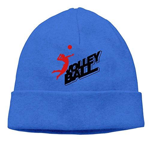 Volleyball Frau Ball Logo F2 Knit Skull Cap Unisex Reversible Beanie Hat For Men And - Reversible Beanie Block Knit